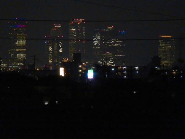 大池緑地から見た夜の名駅ビル群 - 2