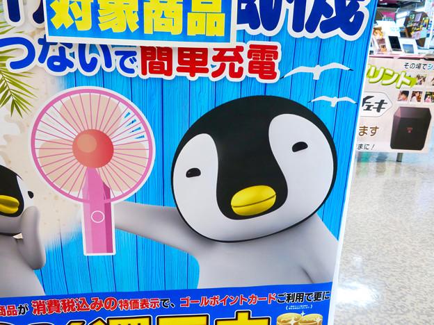 モバイル扇風機を宣伝する可愛らしいペンギン - 2