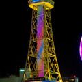七色に輝く名古屋テレビ塔のイルミネーション - 1