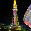 七色に輝く名古屋テレビ塔のイルミネーション - 3