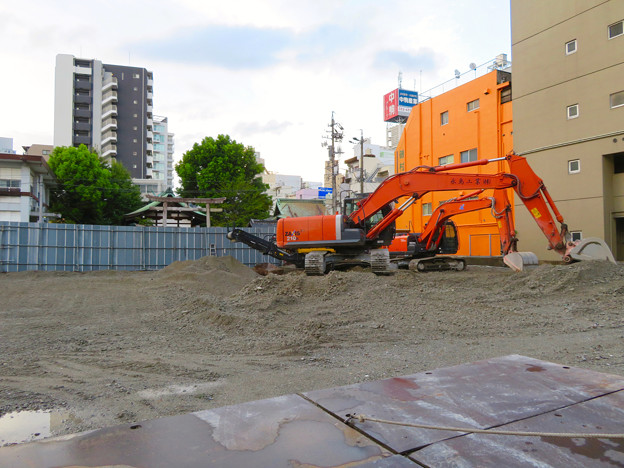 すっかり更地になっていた旧・大須中公設市場跡地(2018年9月2日) - 1