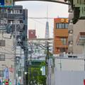 大須商店街アーケード内から見えた名古屋テレビ塔 - 2