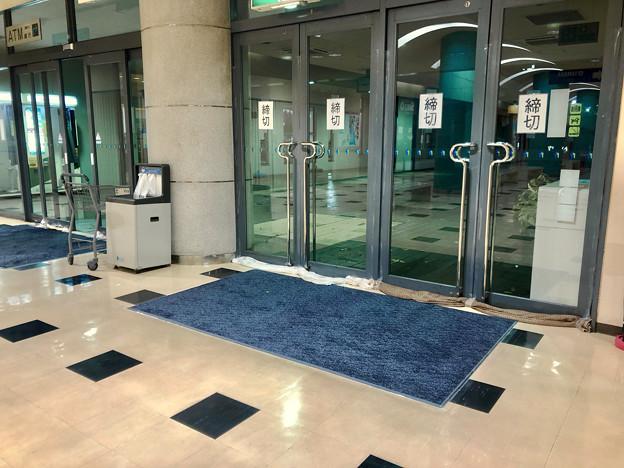 台風21号:水の進入を防いでいたピアーレの入り口 - 1