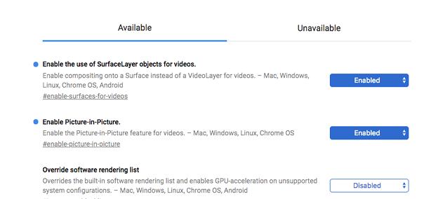 Vivaldi 2.0.1295.3:Flagsにビデオポップアウト関連の項目あるけど機能せず - 2