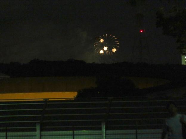 桃花台中央公園から見えた「せともの祭」の花火 - 1