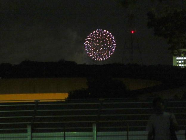 桃花台中央公園から見えた「せともの祭」の花火 - 2