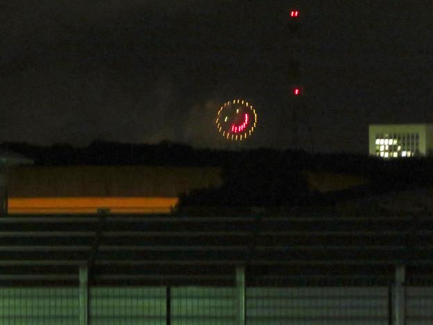 桃花台中央公園から見えた「せともの祭」の花火 - 3