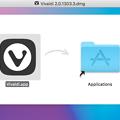 Photos: Vivaldi 2.0.1303.3のアプリケーションフォルダへのコピー画面がカラフルでちょっと綺麗♪