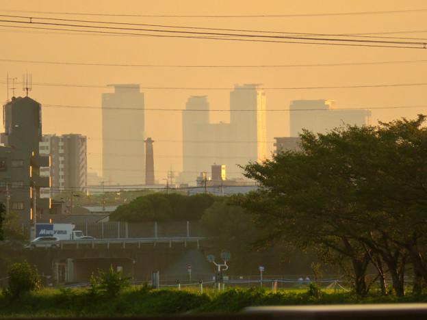 出川(てがわ)橋から見えた名駅ビル群 - 3
