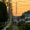 写真: 一瞬瀬戸デジタルタワーかと思った、夕焼けで輝く鉄塔 - 4
