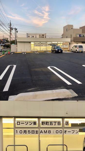 Camera7で撮影した移転先工事中のローソン東野町5丁目店 - 1