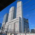 あおなみ線ホームから見上げた名駅ビル群 - 2