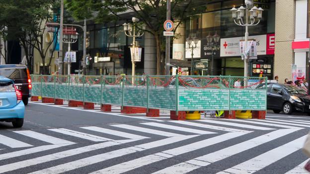 南大津通:中央分離帯を撤去?(2018年9月23日) - 3