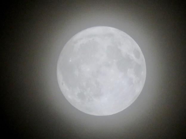 薄曇りの中秋の満月(2018年9月24日) - 3