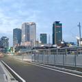 ささしま米野歩道橋渡った対岸から見た名駅ビル群 - 2