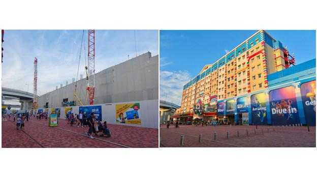 レゴランド・ジャパン・ホテルとシーライフ名古屋:建設中と完成後の比較 - 2