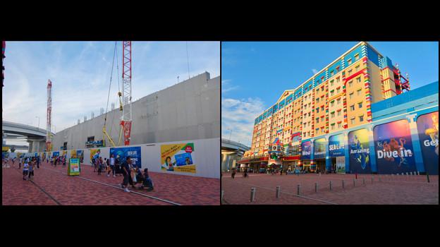レゴランド・ジャパン・ホテルとシーライフ名古屋:建設中と完成後の比較 - 4