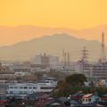 県営岩崎住宅から見た夕暮れ時の岐阜城・金華山 - 5