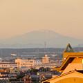 写真: 県営岩崎住宅から見た夕暮れ時の御嶽山 - 2
