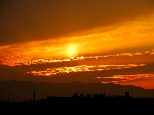 県営岩崎住宅から見た夕焼け - 2