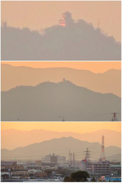 県営岩崎住宅から見た夕暮れ時の岐阜城・金華山 - 13