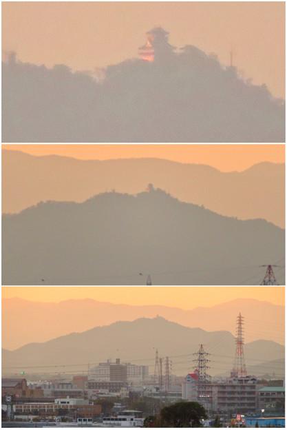 県営岩崎住宅から見た夕暮れ時の岐阜城・金華山 - 14