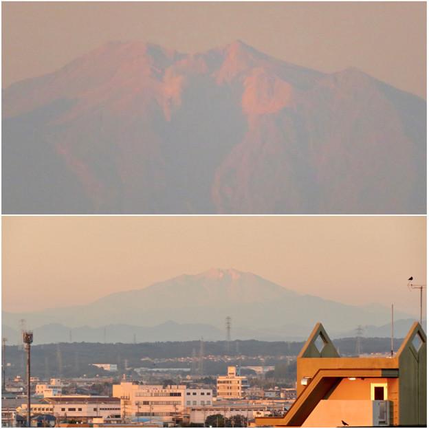 県営岩崎住宅から見た夕暮れ時の御嶽山 - 12