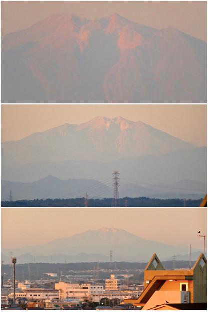 県営岩崎住宅から見た夕暮れ時の御嶽山 - 13