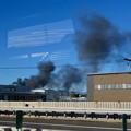 Photos: 東名高速走行中の高速バスから撮影した国盛化学の火事 - 35