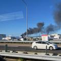 Photos: 東名高速走行中の高速バスから撮影した国盛化学の火事 - 39