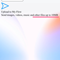 写真: Opera Touch:接続失敗時(?)に出た通知に「10MBまでファイルアップロード可能」と言う表記? - 2