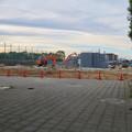 写真: 解体工事中の朝宮公園のプール - 1