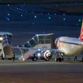 写真: エアポートウォーク名古屋 No - 13:着陸した飛行機の周りで作業する人たち
