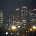 写真: エアポートウォーク名古屋 No - 20:3階フードコートから見た夜の名駅ビル群