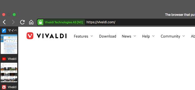 Vivaldi 2 1 1332 4:デスクトップから戻ると上に謎のバー - 2