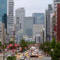桜通に架かる歩道橋の上から見た名駅ビル群 - 1