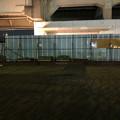 桃花台線の桃花台東駅周辺撤去工事(2018年10月16日) - 1:駅前の花壇が撤去