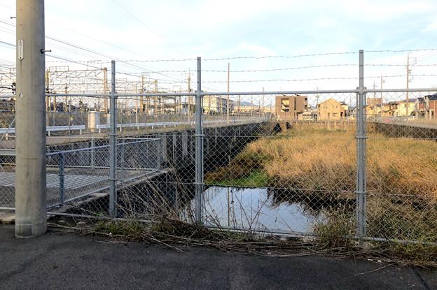 JR中央線横の堀ノ内1号調整池 - 1