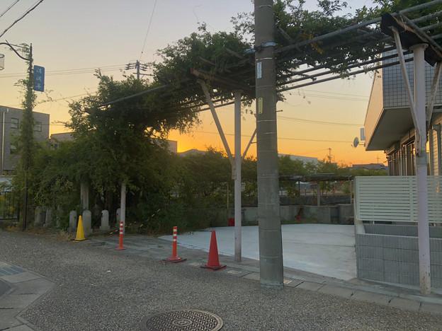 藤棚だけが残されてた旧・清流亭(2018年10月) - 2