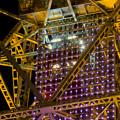 Photos: 真下から見上げた夜の名古屋テレビ塔のエレベーター - 3