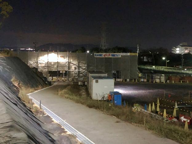 桃花台線の桃花台中央公園南側高架撤去工事(2018年11月7日) - 1
