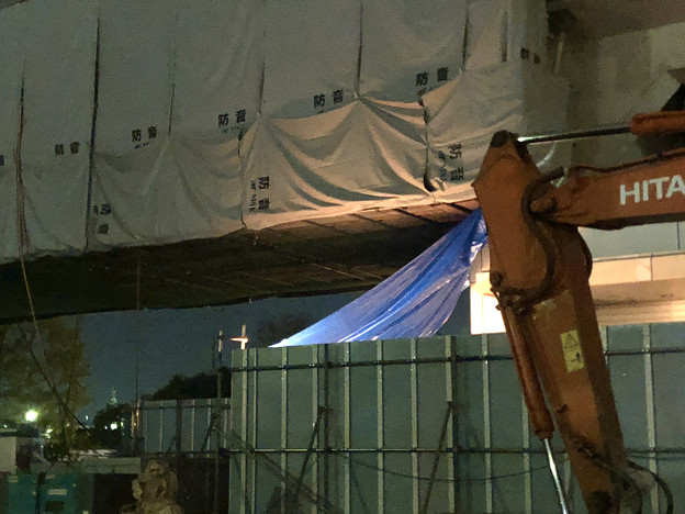 桃花台線の桃花台東駅周辺撤去工事(2018年11月12日)- 2