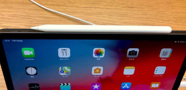 iPad Pro 11インチ 2018 No - 2:Apple Pencil充電中