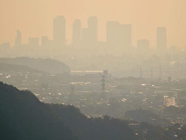 定光寺展望台から見た景色 - 3:名駅ビル群