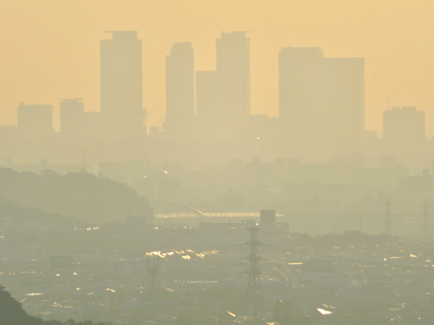 定光寺展望台から見た景色 - 25:名駅ビル群