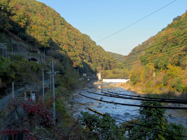 定光寺駅ホームから降りる階段から見た庄内川 - 1
