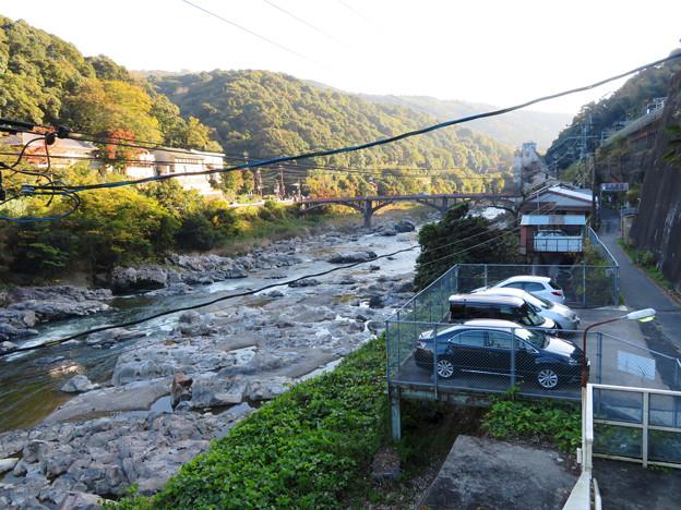 定光寺駅ホームから降りる階段から見た庄内川 - 2