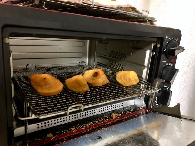 写真: トースターで試した「焼き柿」 - 1