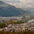 写真: 定光寺展望台から見た景色:愛知環状鉄道の高架 - 3