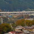 写真: 定光寺展望台から見た景色:愛知環状鉄道の高架 - 4